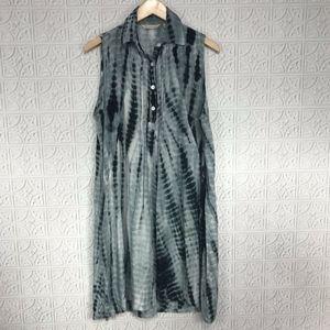 Soft Surroundings Tie Dye Boho Shirt Dress